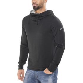 super.natural Comfort Hoody Men Jet Black/Ash Melange